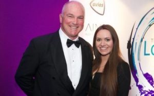 David Burdon and Lauren Hogg of Comarch at the Loyalty Awards